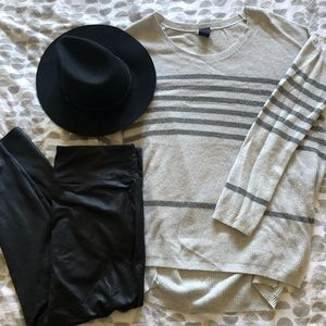 Textured Tunic Sweater Scoop Neck Gap Sz L